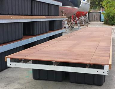 Pontili galleggianti modulari usati